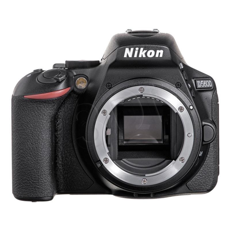 Nikon D5600 + AF-P DX 18-55mm VR SLR Camera Kit, Megapixel 24.2 MP, ISO 25600, Display diagonal 8.13 cm, Wi-Fi, Video recording, TTL, Frame Spoguļkamera SLR