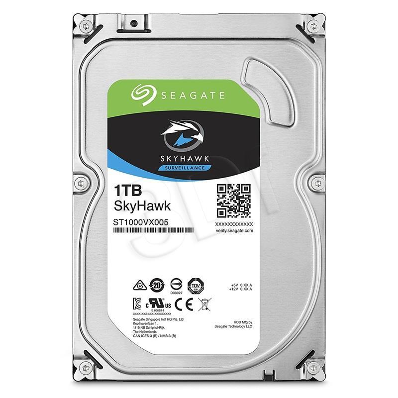 Seagate SkyHawk 3.5'' 1TB 5900RPM SATA3 64MB cietais disks