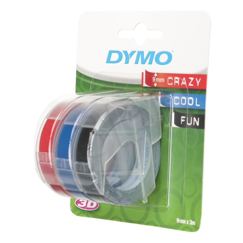 Dymo S0847750 Embossing Pack (3 Tapes) - 9mm papīrs