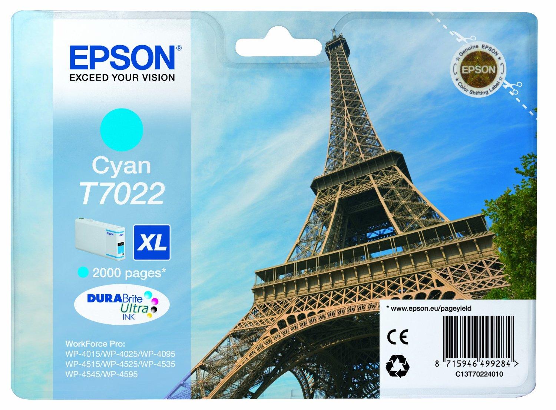 Epson WP4000/4500 Ink Cartridge XL Cyan kārtridžs