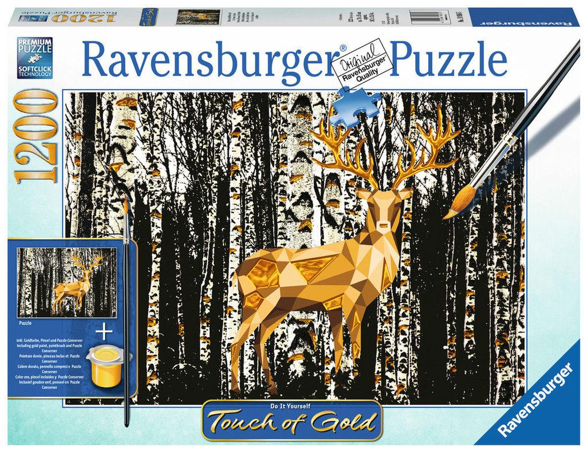 RAVENSBURGER 1200 pcs Deer in Birkenwald puzle, puzzle