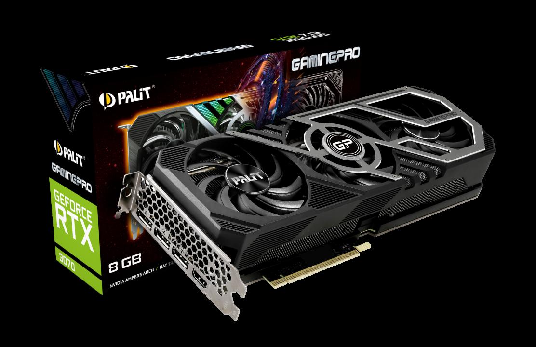 Palit GeForce RTX 3070 GamingPro 8GB GDDR6 (NE63070019P2-1041A) video karte