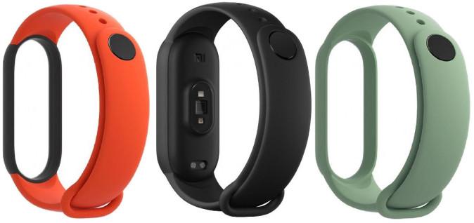 Xiaomi Mi Band 5 wristband, black/orange/teal 3pcs 6934177724053 Viedais pulkstenis, smartwatch