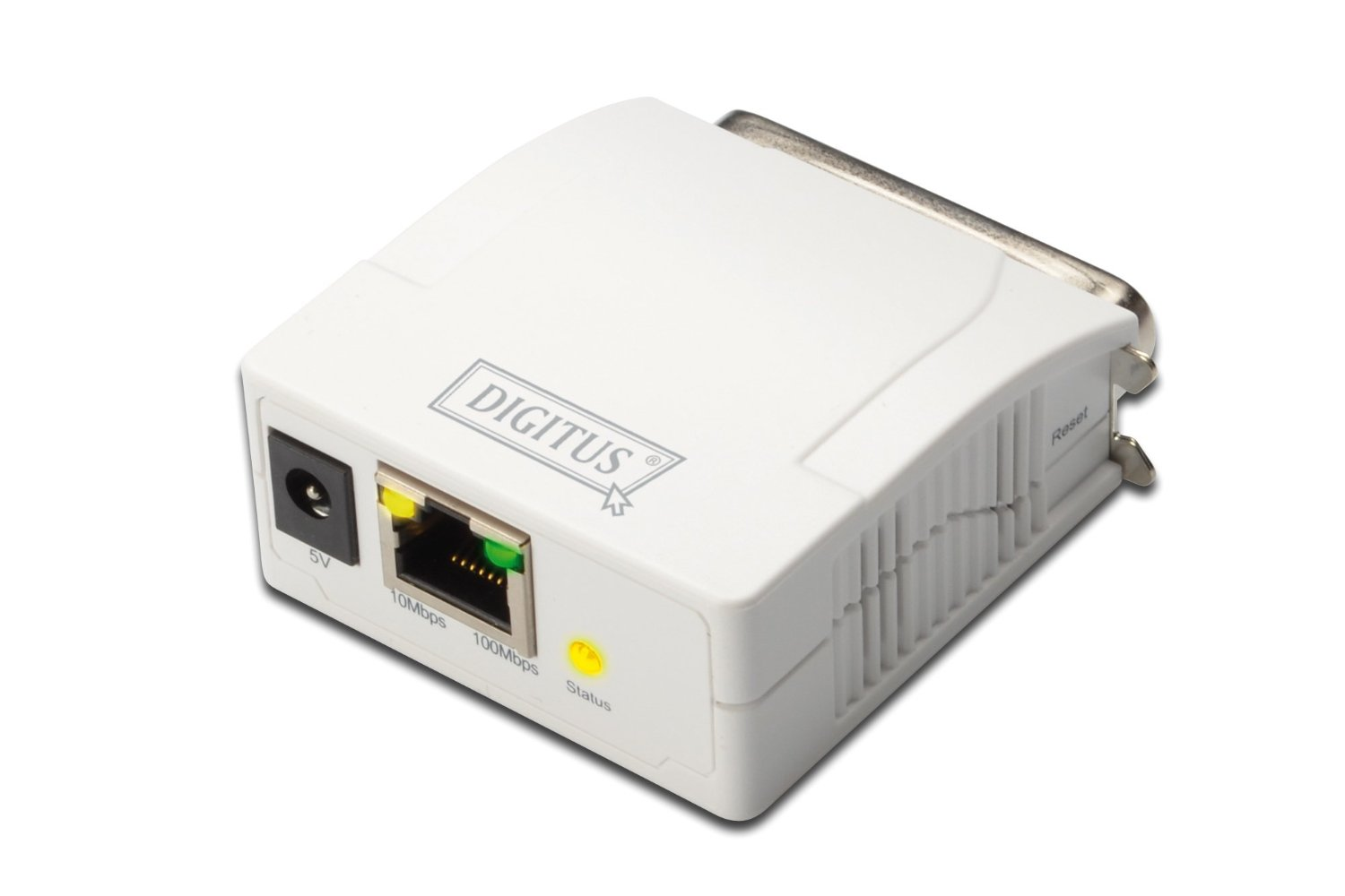 Digitus Parallel Print Server. 1-Port 1x RJ45. 1x DB-36-pin male Printserveris