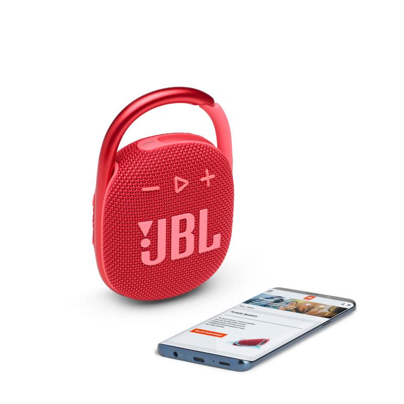 JBL CLIP 4 Portable bluetooth speaker with carabiner, water proof, IPX67, Red pārnēsājamais skaļrunis