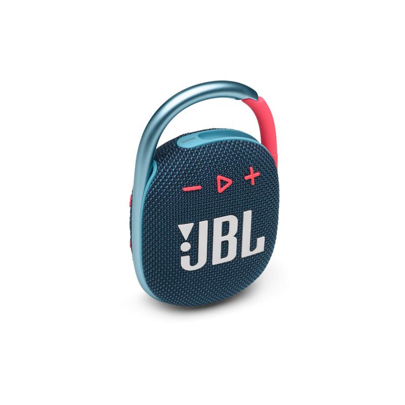 JBL CLIP 4 Portable bluetooth speaker with carabiner, water proof, IPX67, Blue/Pink pārnēsājamais skaļrunis