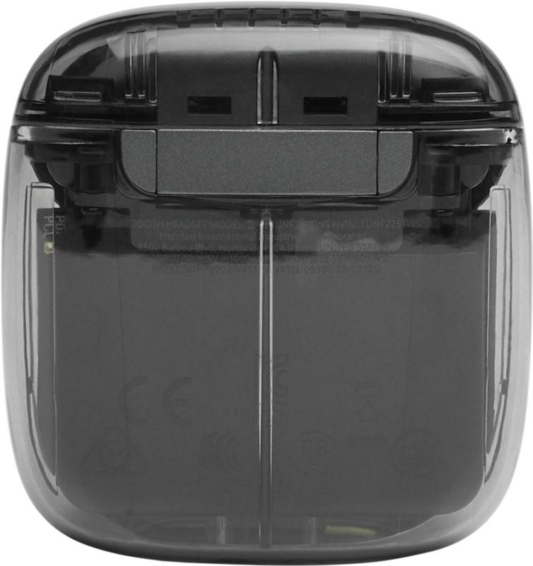 JBL TUNE TWS bezvadu austiņas, caurspīdīgas/melnas