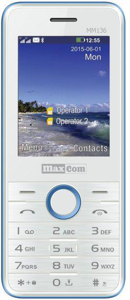 Maxcom MM 136 white-blue mobile phone (DualSIM) Mobilais Telefons