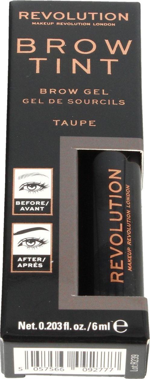 Makeup Revolution Brow Tint Taupe eyebrow styling gel 1pc ēnas