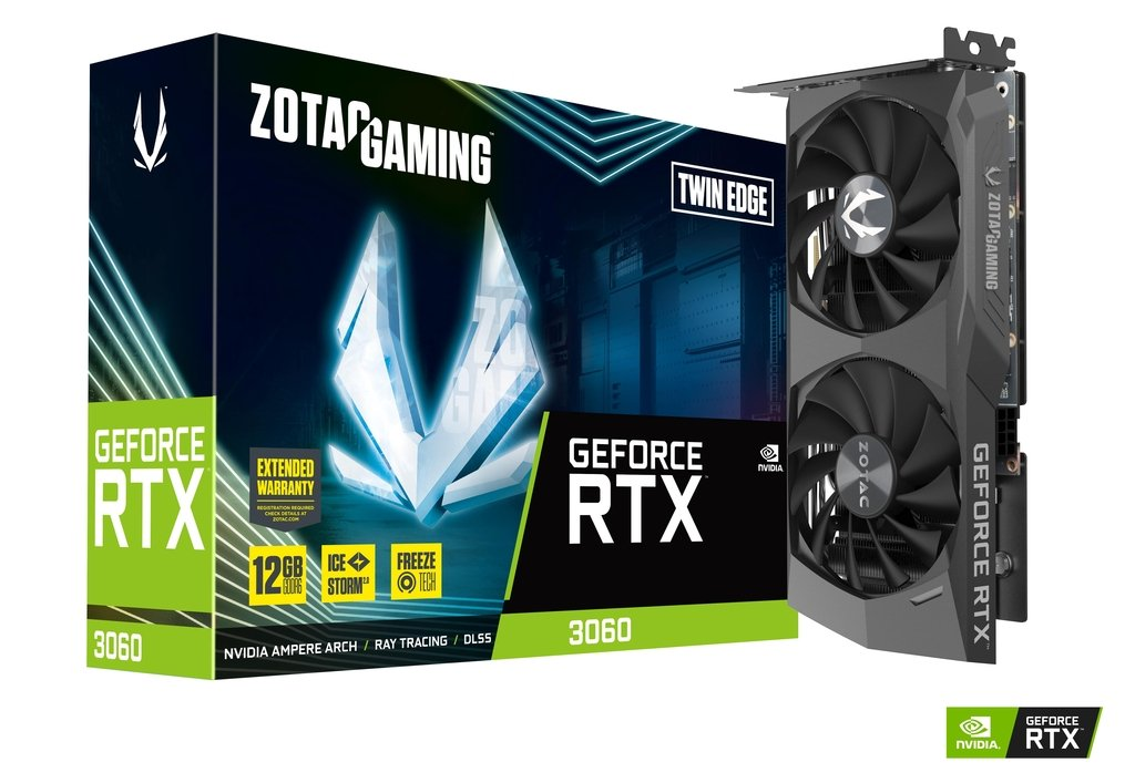 video karte ZT-A30600E-10M ZOTAC GAMING GeForce RTX 3060 Twin Edge 12GB GDDR6 ZOTAC