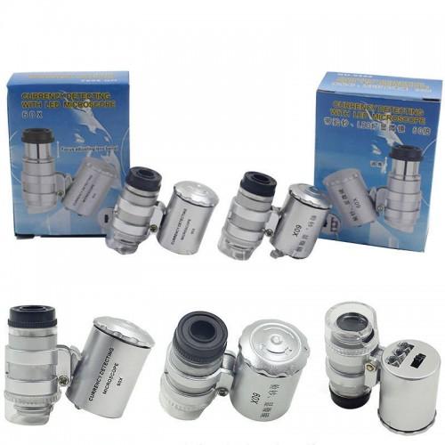 Juvelieru  Lupa Pocket 60x Magnifier Led Light