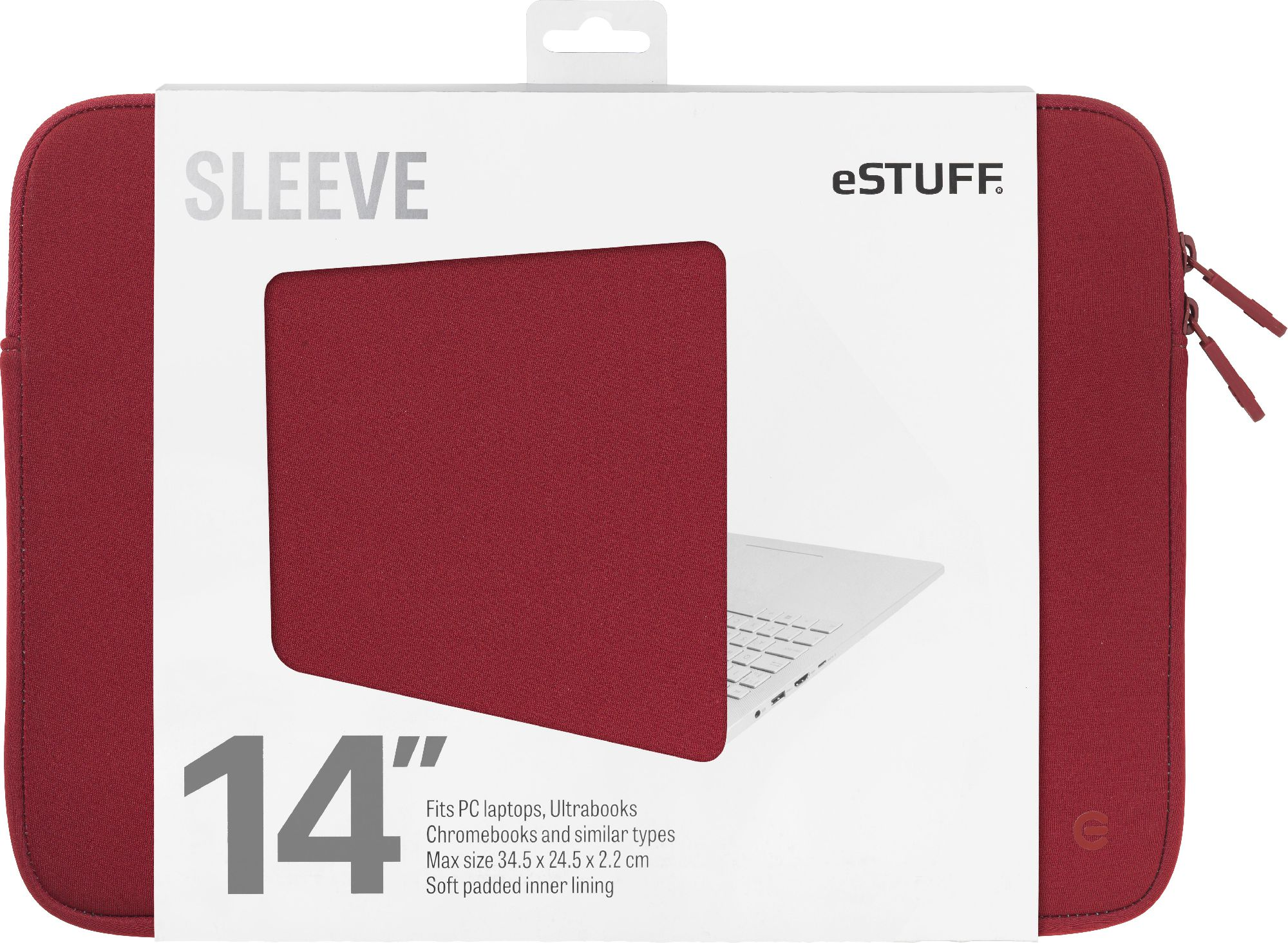 eSTUFF 14'' Sleeve - Fits PC Laptops Ultrabooks, Chromebooks and BLUE ESTUFF portatīvo datoru soma, apvalks