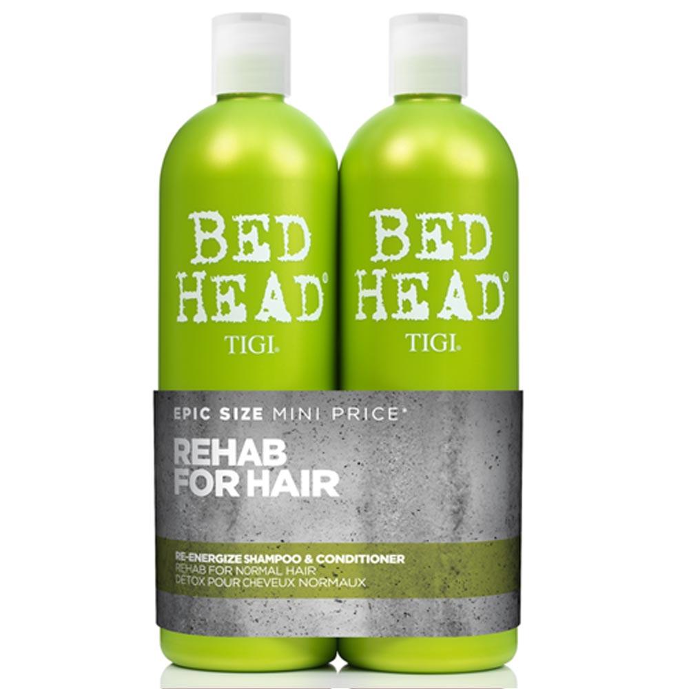 Tigi Bed Head Re-Energize Shampoo  750ml Bed Head Re-Energize Shampoo + 750ml Bed Head Re-Energize Conditioner 750 Women
