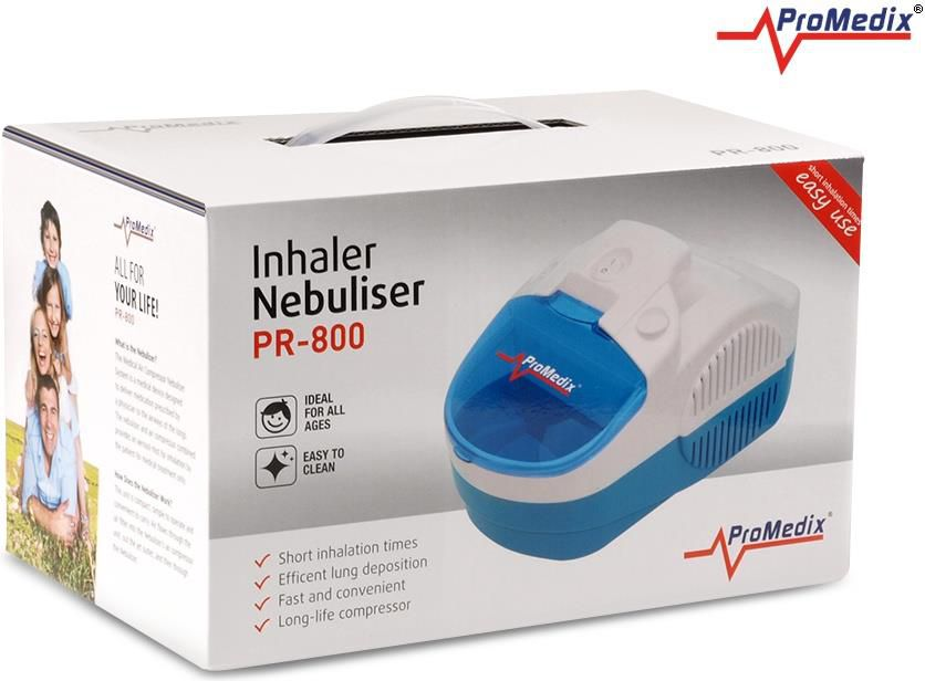 ProMedix inhalators PR-800 30psi, 58db, 8l/min, 2,1 kg inhalators