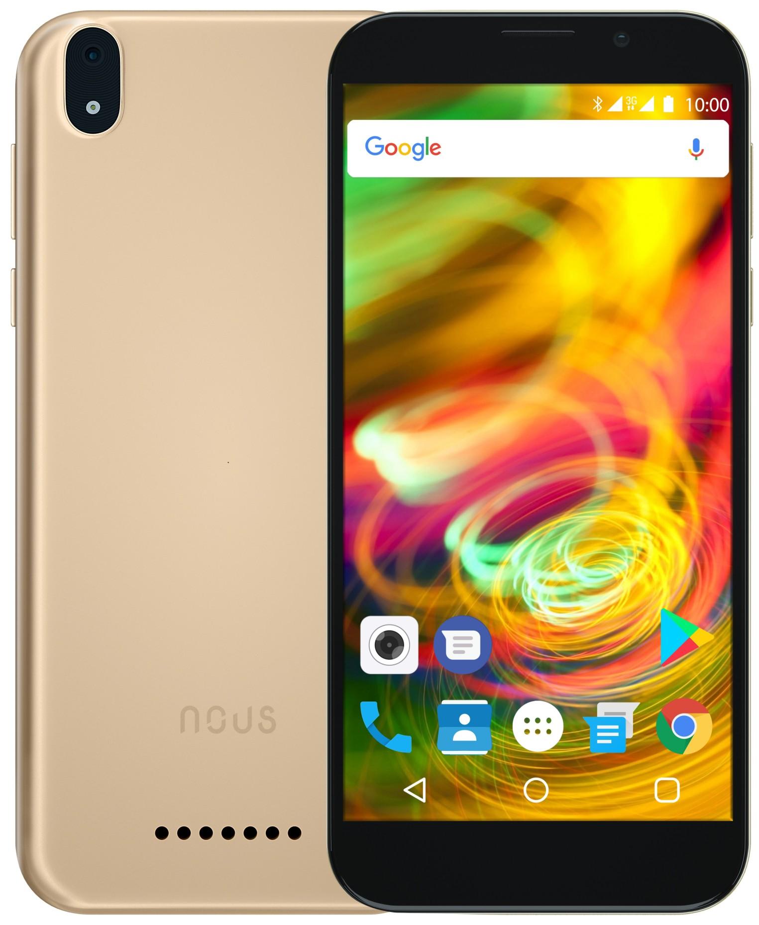 NOUS NS5008 Optimum 8GB Dual SIM Gold Mobilais Telefons