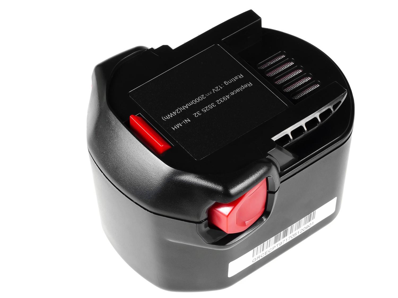 Green Cell Power Tool Battery for AEG B1214G B1215R B1220R 12V 2Ah