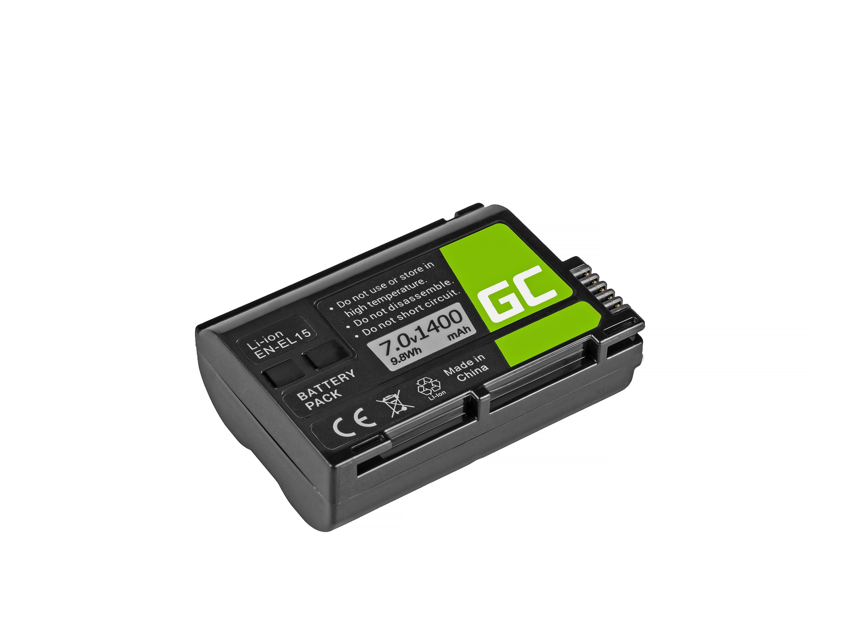 Green Cell EN-EL15 for Nikon D850, D810, D800, D750, D7500, D7200, D71 Baterija