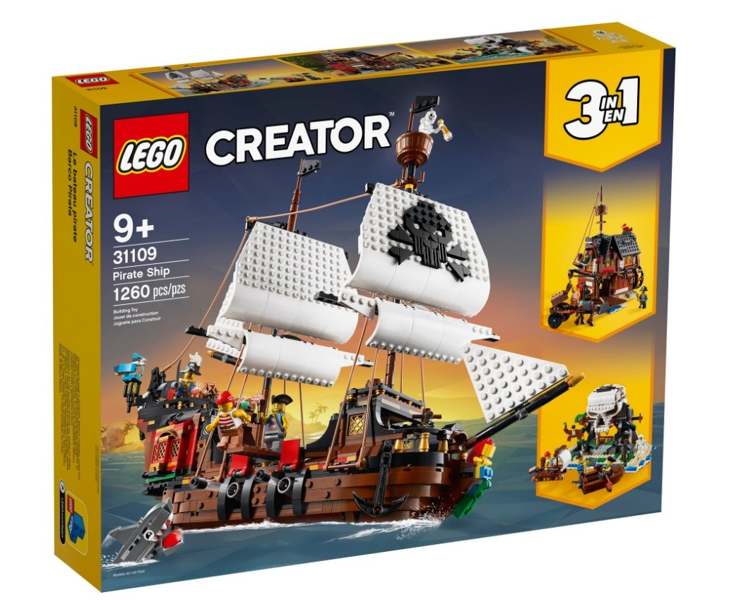 LEGO Bricks Creator Pirate Ship LEGO konstruktors