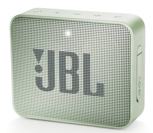 JBL Go 2, compact portable speaker with battery, IPX7 waterproof, Mint pārnēsājamais skaļrunis