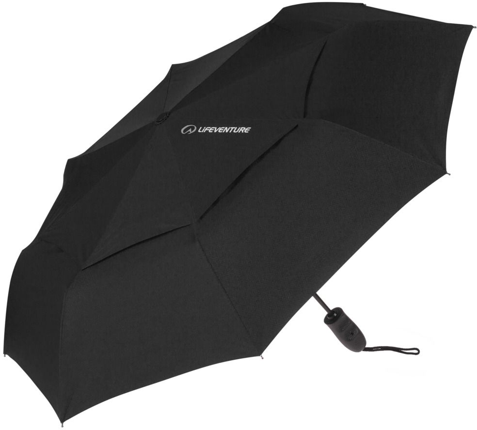 Lifeventure Parasol turystyczny Trek Umbrella M Lifeventue Black 5031863094900 Lietussargs