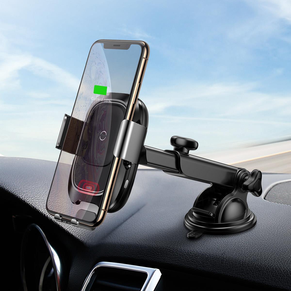Baseus  Induction charger in a holder with infrared sensor WXZN-B01 Mobilo telefonu turētāji