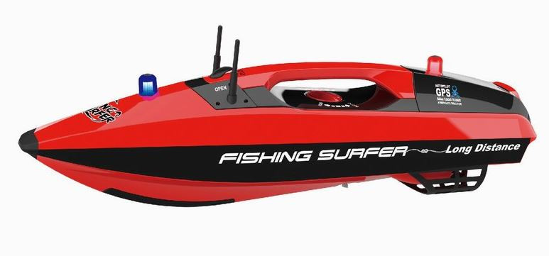 Joysway Fishing Surfer Bait Boat 2.4GHz, RTRJOY/3251-RED
