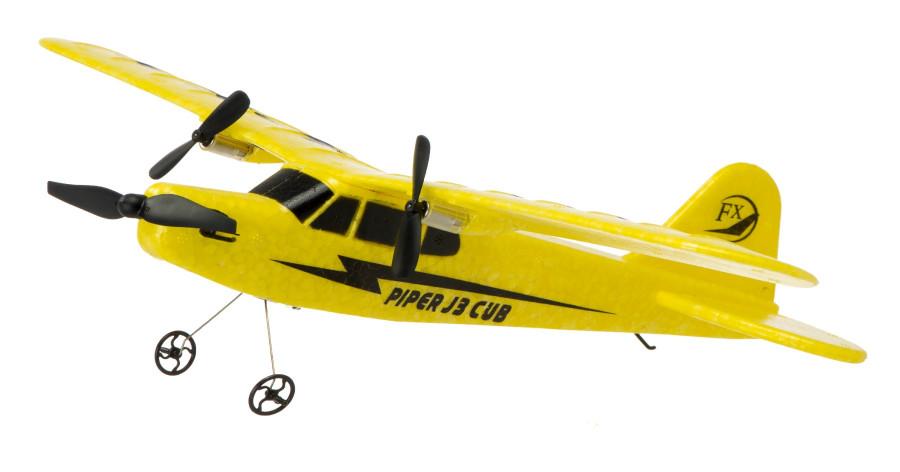 Piper J-3 CUB 2.4GHz RTF (wingspan 34cm) - yellow