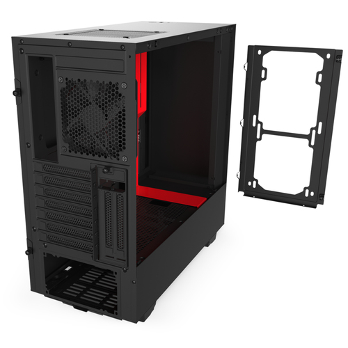 Case Midi NZXT H510 Red/Black Datora korpuss