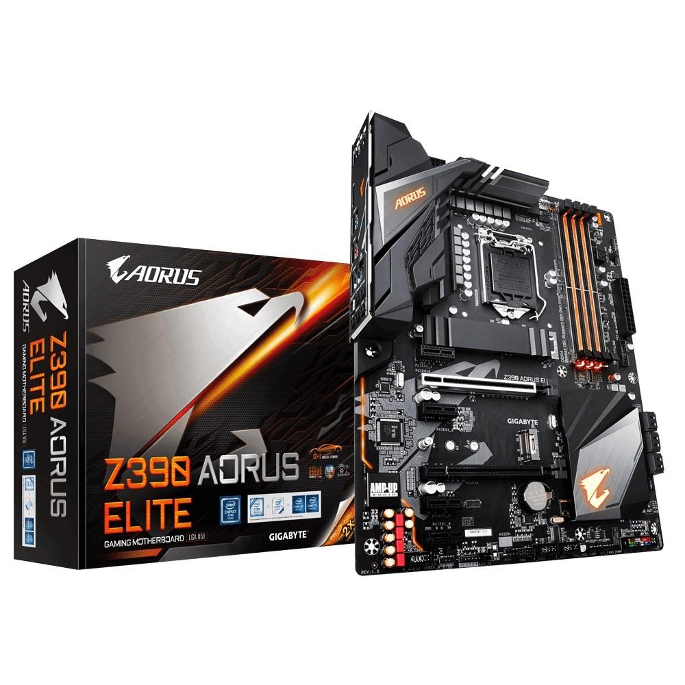Gigabyte Z390 AORUS ELITE motherboard LGA 1151 (Socket H4) ATX Intel Z390 pamatplate, mātesplate