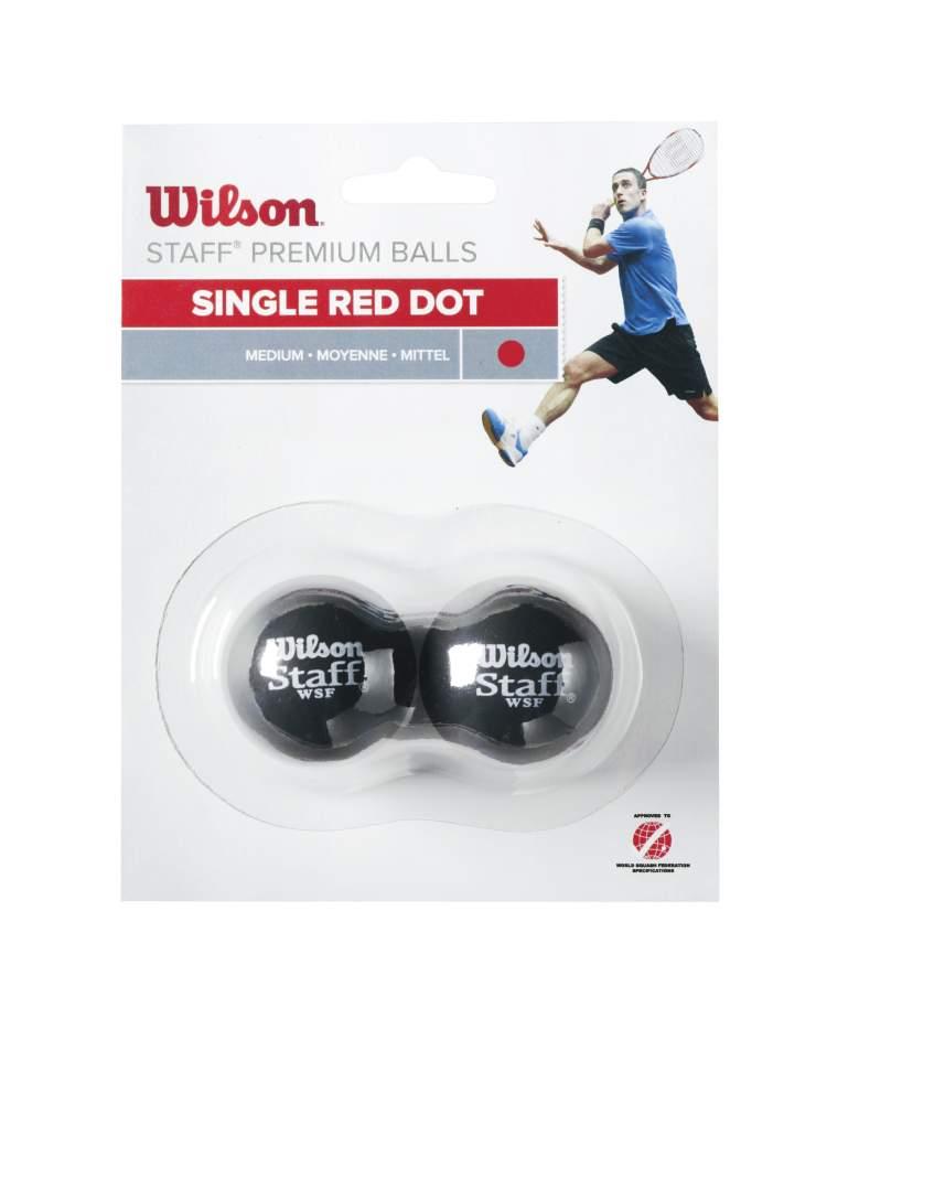 WILSON skvosa bumbinas STAFF Iepakojuma 2 gb. - red dot