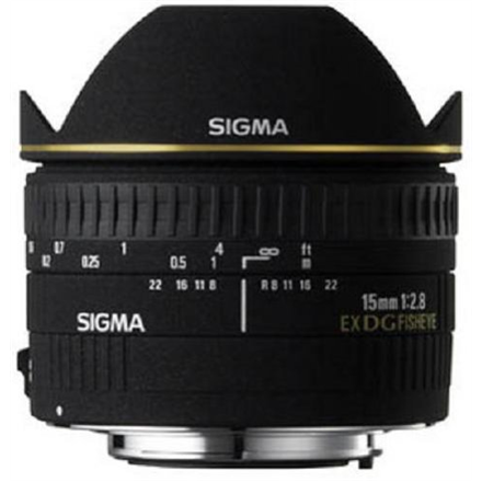 Sigma EX 15mm F2.8 DG Diagonal Fisheye for Nikon, 7 Elements foto objektīvs