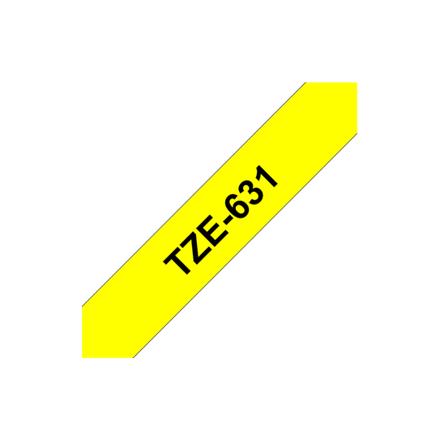 BROTHER TZE631 tape black/yellow 12mm 8m  rezerves daļas un aksesuāri printeriem