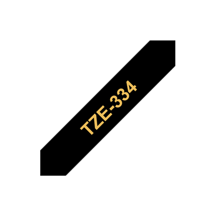 Tape Brother 12mm Gold on Black biroja tehnikas aksesuāri