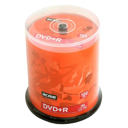 Acme DVD+R 100pack cake box DVD+R, 120 min / 4,7 GB matricas