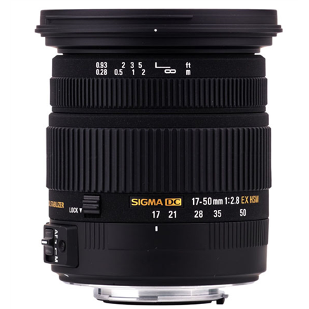 Sigma EX 17-50mm F2.8 DC OS HSM for Nikon, 17 Elements in 13 foto objektīvs