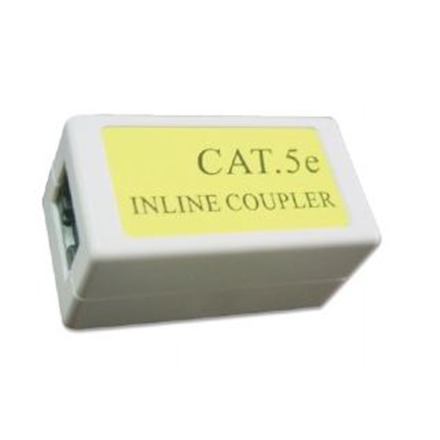 Gembird Cat. 5E LAN coupler, white color