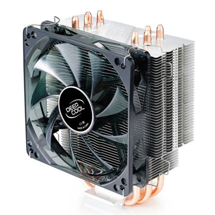 Deepcool; Gammaxx 400; universal cooler, 4 heatpipes, Intel Socket LGA 2011/1155/ 775, 130 W TDP and AMD Socket FM1/AM3+/A procesora dzesētājs, ventilators