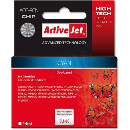 ActiveJet ink ACC-8CN Canon CLI-8C Cyan kārtridžs