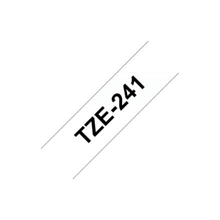 Brother labelling tape TZE-241 white/black   18 mm biroja tehnikas aksesuāri