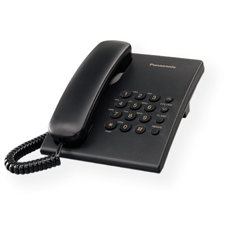 Panasonic KX-TS500FXB Corded phone, Black, telefons