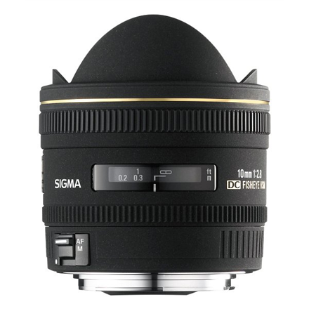 Sigma EX 10mm F2.8 DC HSM Fisheye for Nikon, 12 Elements in foto objektīvs