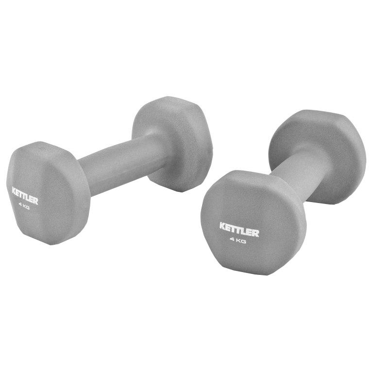KETTLER Fitnesa hanteles Neopren Hanteln 2x4kg. 7371-090 hanteles