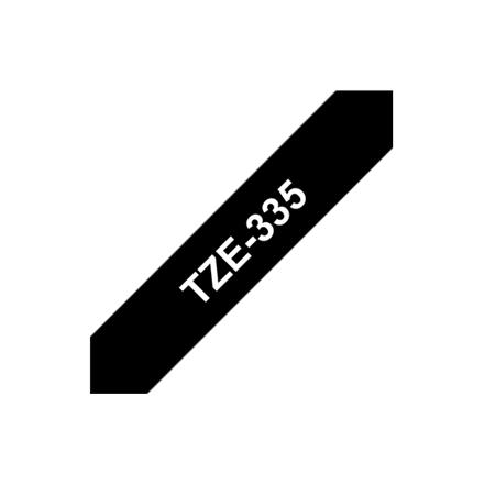 Brother TZ-E335, 12mm white on black  tape biroja tehnikas aksesuāri