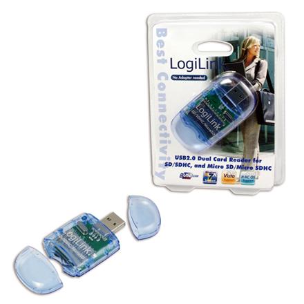 Logilink CR0015 SD & Micro SD format karšu lasītājs