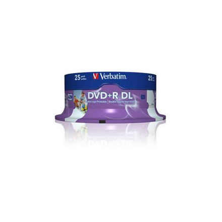 Verbatim DVD+R DOUBLE LAYER 8.5GB 8X 25pack AZO WIDE PRINTAB matricas