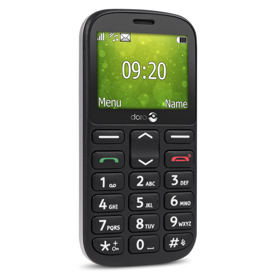 DORO 1360 Dual SIM black MT_1360 black Mobilais Telefons