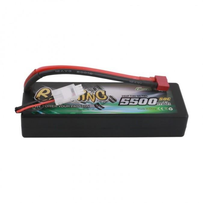 5500mAh 7.4V 50C 2S1P HardCase 24 T-plug