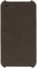 Melkco LEATHER SNAP COVER IPHONE 4/4s brown  (APIPO4LOLT1BNLC) maciņš, apvalks mobilajam telefonam