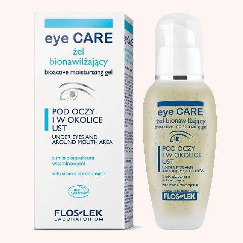 FLOSLEK Pielegnacja oczu Zel bionawilzajacy z mikrokapsulkami wygladzajacy zmarszczki 30 ml 141555 ēnas