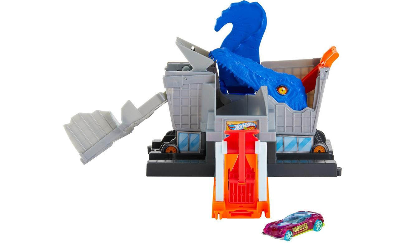 Hot Wheels T-Rex Grocery Attack toy vehicle track Plastic